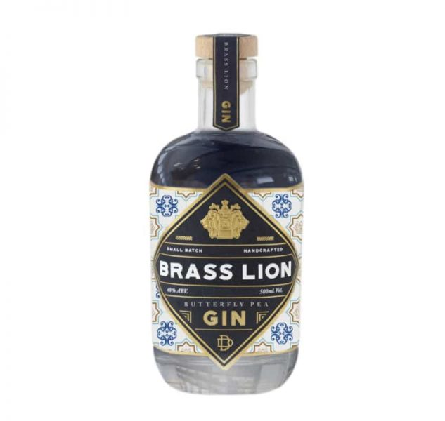 Brass Lion Butterfly Pea Gin