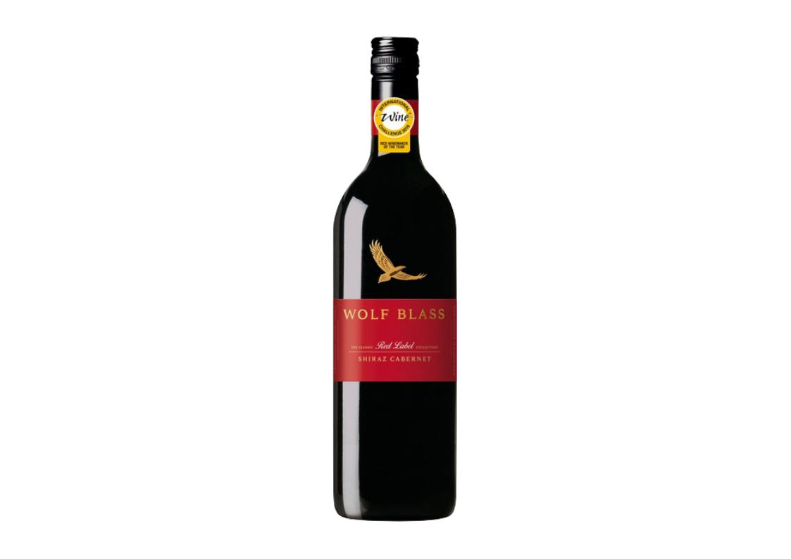 It is an image of Crazy Wolf Blass Red Label Shiraz 2020