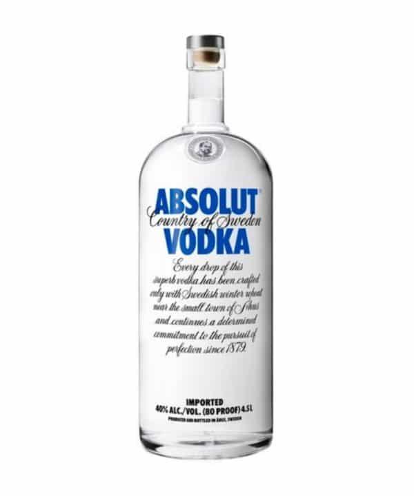 cws11960 absolut vodka 4.5l