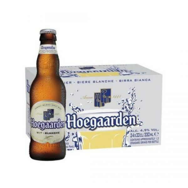 cws68 hoegaarden white beer glass bottles 24